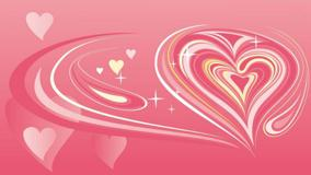 Artistic Heart And Pink Background